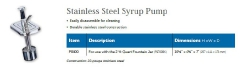 STAINLESS STEEL SYRUP PUMP