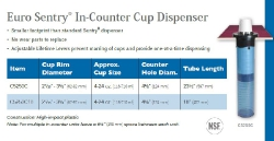 EURO SENTRY IN-COUNTER CUP DISPENSER