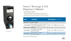 SENTRY BEVERAGE & LID DISPENSER CABINETS