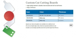CUSTOM-CUT CUTTING BOARDS