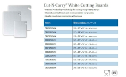 CUT-N-CARRY WHITE CUTTING BOARDS