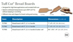 TUFF-CUT BREAD BOARDS
