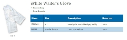 WHITE WAITER'S GLOVE