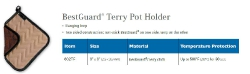 BESTGUARD TERRY POT HOLDER