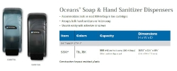 OCEANS SOAP & HAND SANITIZER DISPENSERS