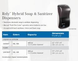 RELY HYBRID SOAP & SANITIZER DISPENSERS