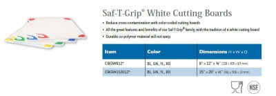 SAF-T-GRIP WHITE CUTTING BOARDS