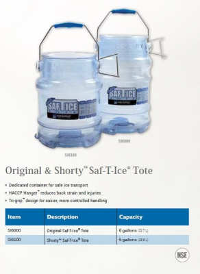 ORIGINAL AND SHORTY SAF-T-ICE TOTE