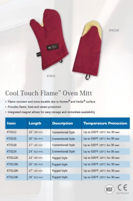 COOL TOUCH FLAME OVEN MITT