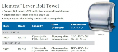 ELEMENT LEVER ROLL TOWEL