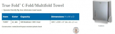 TRUE FOLD C-FOLD / MULTIFOLD TOWEL