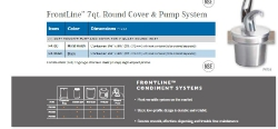 FRONTLINE 7QT. ROUND COVER & PUMP SYSTEM