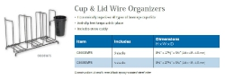 CUP & LID WIRE ORGANIZERS