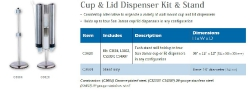 CUP AND LID DISPENSER KIT & STAND