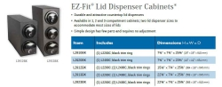 EZ-FIT LID DISPENSERS CABINETS