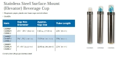 STAINLESS STEEL SURFACE-MOUNT BEVERAGE CUP