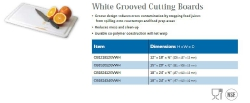 WHITE GROOVED CUTTING BOARDS