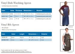 VINYL DISH WASHING APRON-VINYL BIB APRON