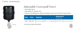 ADJUSTABLE CENTERPULL TOWEL