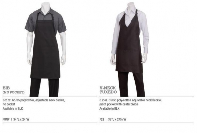 BLACK BIB / V-NECK